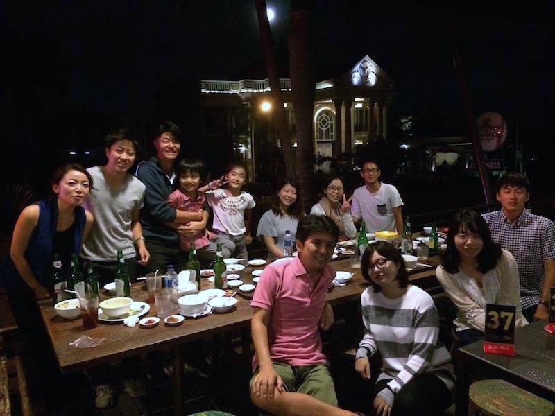 東ジャワのマランに住む20代の日本人メンバー食事会