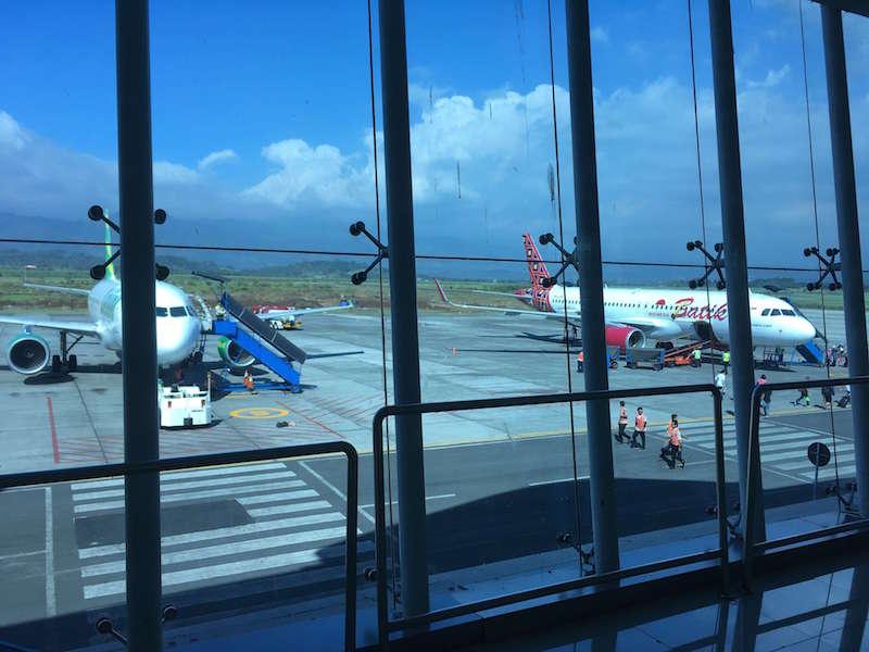 東ジャワのマランからジャカルタまでをスリウィジャヤ航空で移動