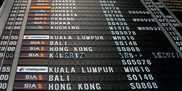 空港ターミナルの時刻表 タイムテーブル