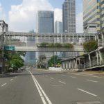 ジャカルタの歩道橋|3人組のスリにあい、追い払って撃退した時の話