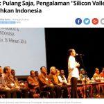 ジョコウィ大統領がシリコンバレー在住インドネシア人を前に語ったこと