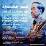 インドネシアのジョコウィ大統領、Youtubeで「私が答えます」キャンペーンを開始