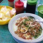 ブブルアヤム|ジャカルタ屋台グルメの朝食のおかゆ、これは絶品!