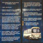 インドネシアの長距離高速バス「安全のための12ヶ条」が面白い!!