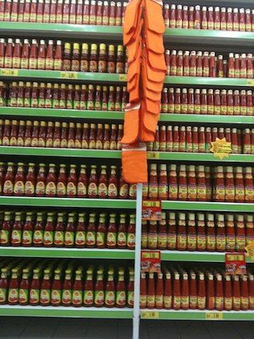 サンバル インドネシアのスーパーマーケット