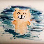 子供の水彩画|小学4年の息子がインドネシアで描いた作品に高評価が!