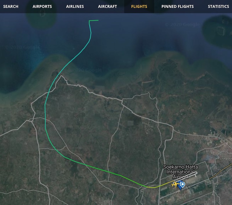 フライトレーダー スリウィジャヤ航空 SJ182