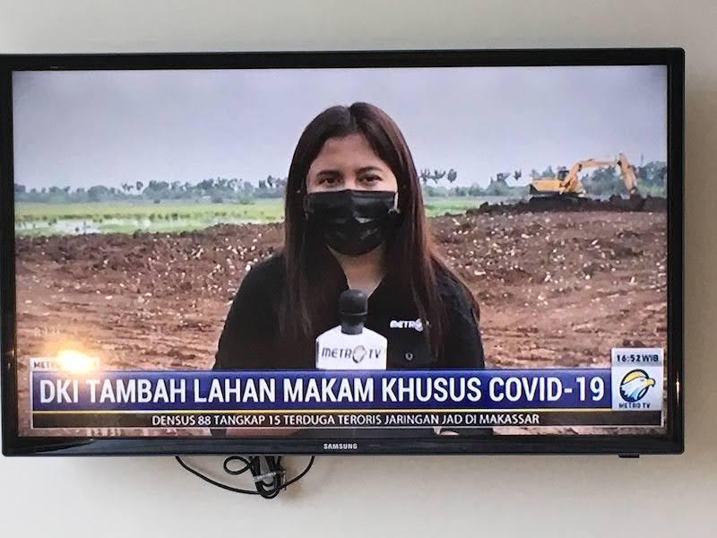インドネシアの墓地 新型コロナ